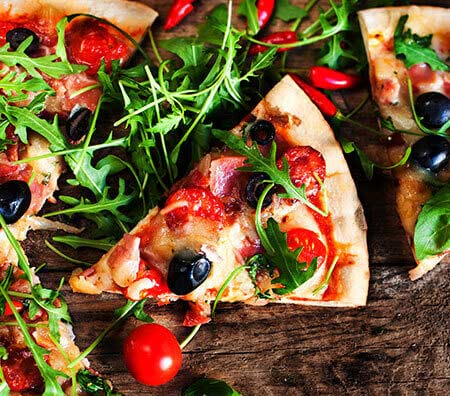 Fleisch- & Fischgerichte - Pizza - Käse
